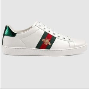 New Gucci Women's Ace Embroidered Bee Shoes Size 8